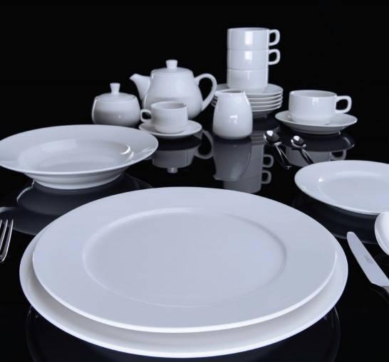 Тарелка для пасты 27,5 см. фарфоровая, белая Bistro, FoREST