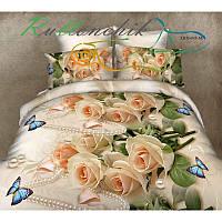 Комплект постельного белья бязь №3532 двуспальный евро