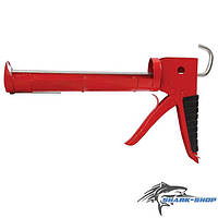 Пистолет для выдавливания силикона 225мм с обрезиненной рукояткой