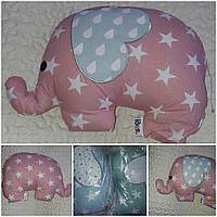 """Красивая подушка-игрушка """"Слоник"""", 45х38 см., 185/155 (цена за 1 шт. + 30 гр.)"""