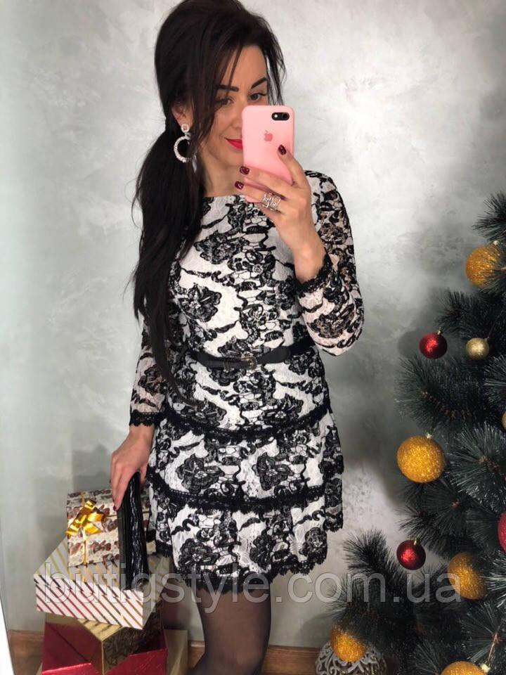 Крисивое женское платье дорогое кружево с вышивкой белое, беж