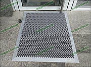 Грязезащитный резиновый ковер Волна 120х180см. серый с резиновым кантом