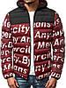 Мужская стильная зимняя куртка J.Style бордовая с литерами, фото 4