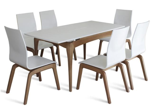 Стол Градо в комплекте со стульями Виано (белый)