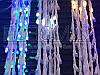 Гирлянда Водопад белый провод с белой матовой круглой лампой 3,0мХ2,0м 400LED (синий) IT-RAINS-400B-3