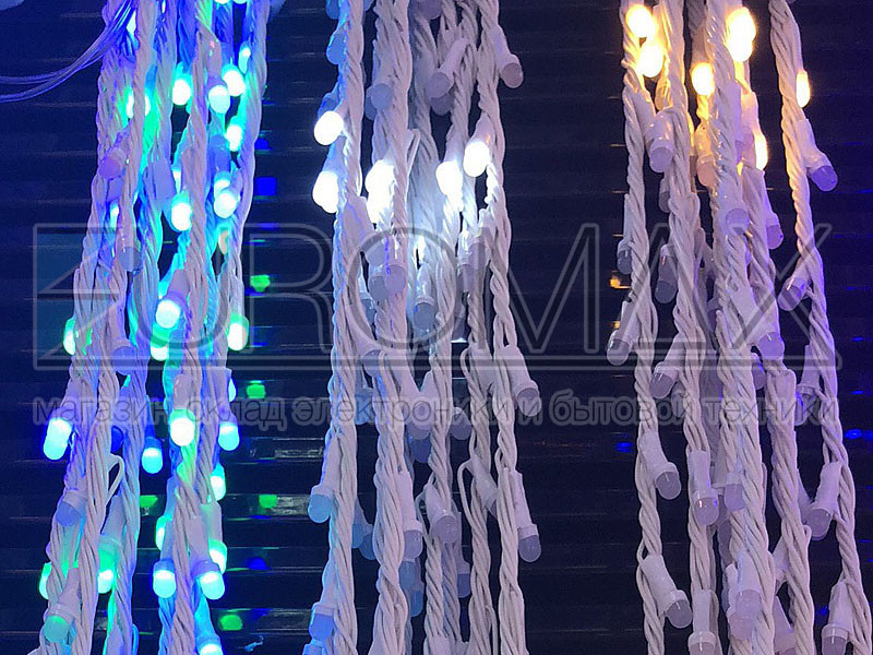 Гирлянда Водопад белый провод с белой матовой круглой лампой 3,0мХ1,5м 320LED (белый) 40шт IT-RAINS-