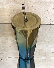 Термостакан с трубочкой Starbucks ребристый, фото 2
