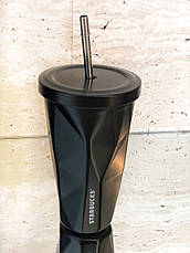Термостакан с трубочкой Starbucks ребристый, фото 3