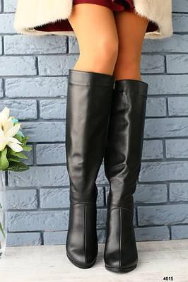 Женские демисезонные кожаные сапоги