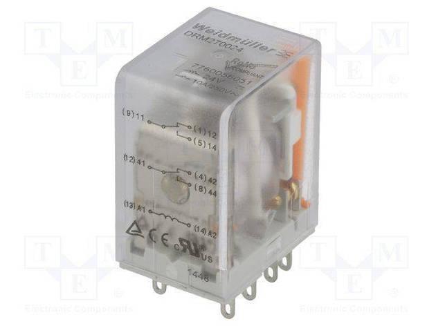 Реле DRM 270524L WEIDMULLER 7760056064, 24V AC, 2CO, светодиод, фото 2