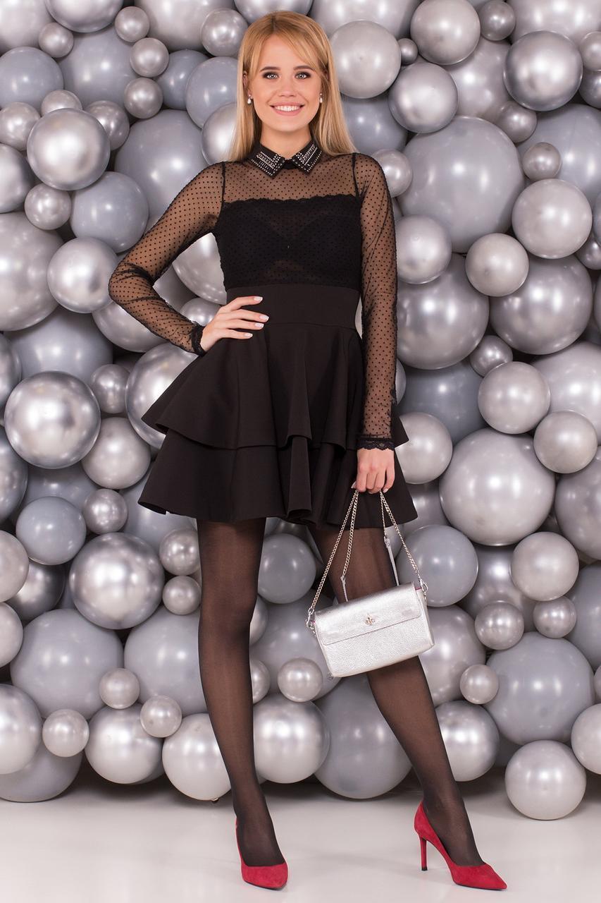 b687d6ff707 Черное платье в стиле Беби Долл - Интернет-магазин