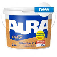 Краска структурная AURA Dekor Silikon Putz K15 25л.
