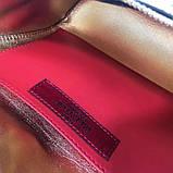 Сумка жіноча на пояс Валентино Garavani Free Rockstud Spike 20, 23 см, колір золотистий, натуральна шкіра, фото 5
