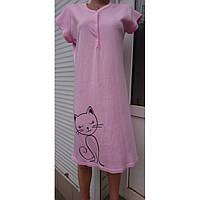 Ночная сорочка для беременных и кормящих из хлопка 44-58 р, ночные рубашки для кормящих оптом от производителя