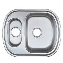 Врезная кухонная мойка из нержавеющей стали Platinum 6349 D Сатин 0.8