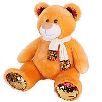 Мягкая игрушка Мишка Медовый с пайетками