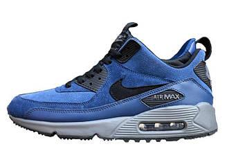 Мужские кроссовки Nike Air Max Sneakerboot Blue Black| найк аир макс синие оригинал