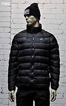 Зимняя мужская куртка Nike черная с воротником стойка топ реплика, фото 2