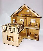 Кукольный домик из фанеры угловой