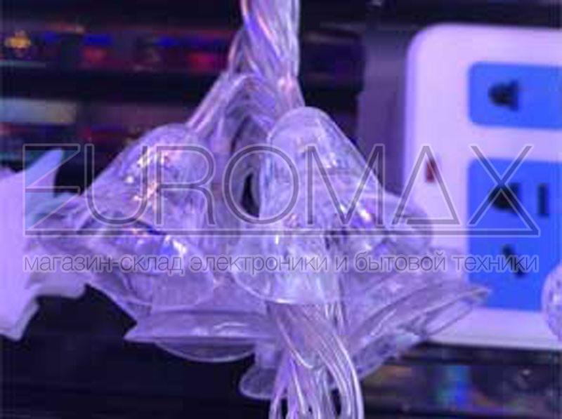 Гирлянда 40 колокольчиков прозрачный провод (микс) PLASTIC-40-4M