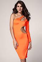 Неоновое платье оранжевого цвета для вечеринки (M)