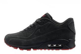 Мужские кроссовки Nike Air Max 90 VT Tweed Grey Red| найк аир макс 90 черные оригинал