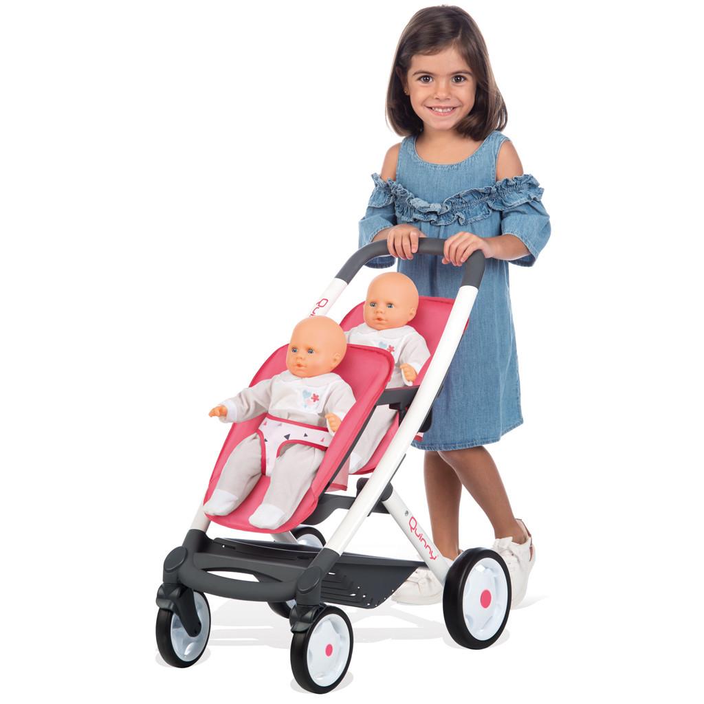Коляска прогулочная для 2 кукол-близнецов Smoby Maxi Cosi Quinny (253298)