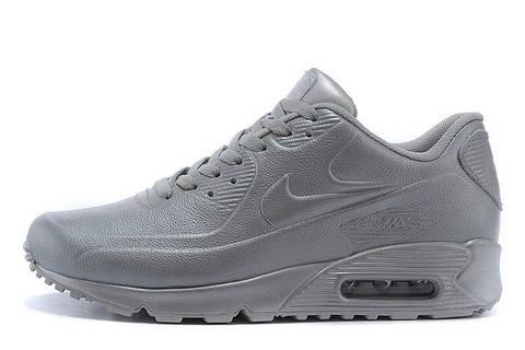 Мужские кроссовки Nike Air Max 90 VT Tweed Grey Leather  найк аир макс 90  серые dcfd6de75f1