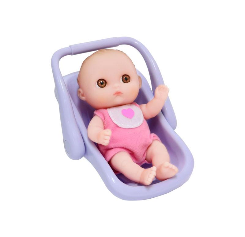 Пупс-малыш с автокреслом, 13 см