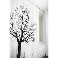 Штора для ванной комнаты Tatkraft 180 х 180 см Дерево (17351)