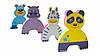 """Детские аква-пазлы """"Смешные животные"""", 4 игрушки, фото 4"""