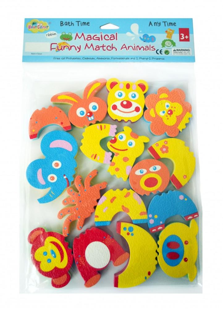 """Детские аква-пазлы """"Смешные животные"""", 8 игрушек"""