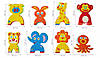 """Детские аква-пазлы """"Смешные животные"""", 8 игрушек, фото 3"""