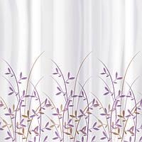 Тканевая штора для ванной комнаты Tatkraft 180 х 180 см Ветви Оливы (18020)