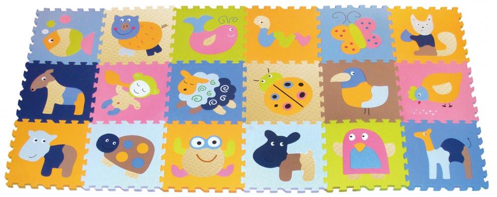 Детский игровой коврик-пазл «Волшебный мир»