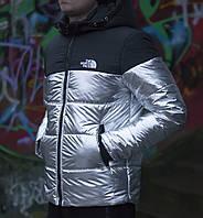 Зимняя мужская куртка The North Face черненое серебро топ реплика