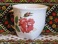 """Чашка широкая (роза красная """"Глория"""")"""