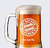 """Пивной бокал 0.5 с именной гравировкой """"Bayern Munchen"""""""