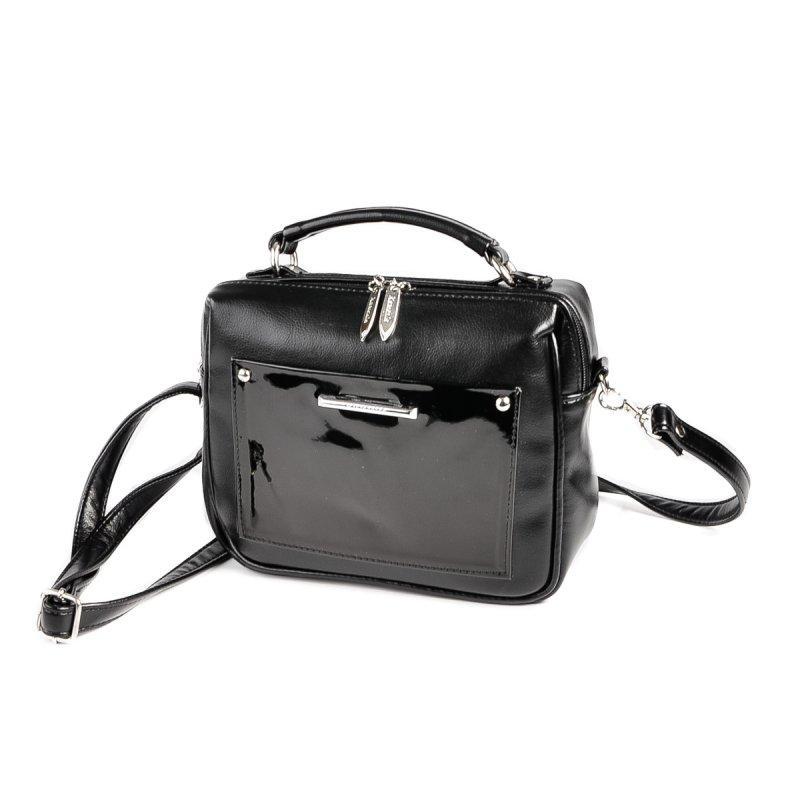 b5a6772b2d8b Черная маленькая сумка М181-Z/лак лаковая кросс-боди через плечо, фото