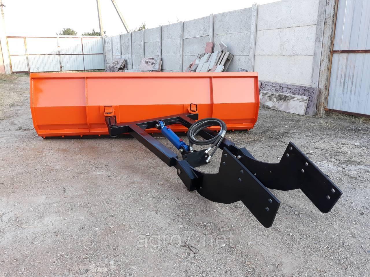 Отвал 2,5м для снега МТЗ, ЮМЗ, Т-40 (мех. поворот)