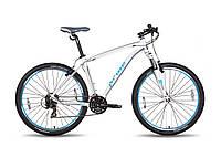 "Велосипед 27,5"" PRIDE XC-650 V-br рама - 19"" бело-синий матовый 2015"