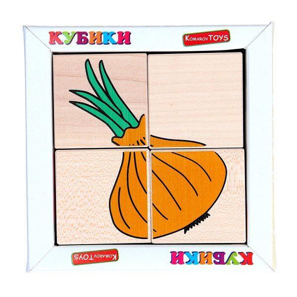 Кубики. Склади малюнок Овочі