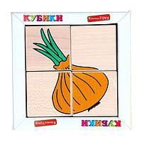 Кубики. Склади малюнок Овочі, фото 1