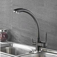 Змішувач для кухні з підключенням до фільтру SANTEP 5678F Чорний