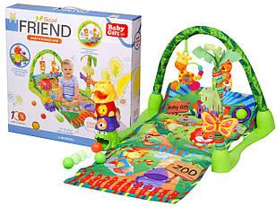 Детский развивающий коврик, игровой коврик Зоопарк