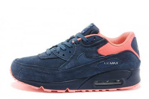 Мужские кроссовки Nike Air Max 90 Premium Anti-Fur Australia Blue Orange 82f3171baaf04