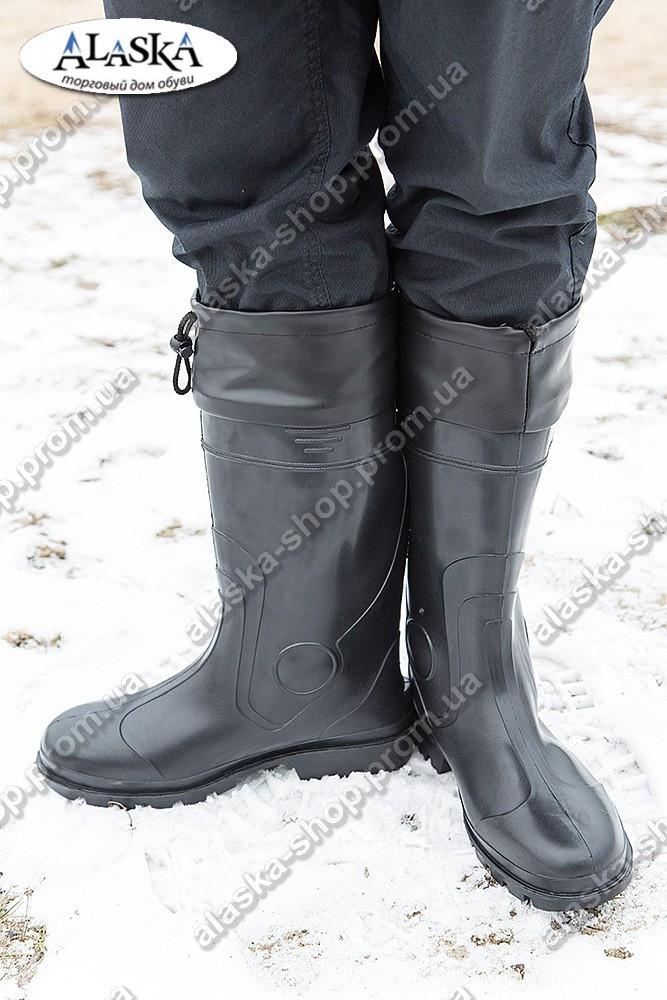 Сапоги мужские черные (Код: С-05 охотник)