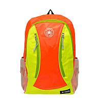 Спортивный рюкзак Converse оранжевый с зеленым (45х30х18 см)  (Реплика)
