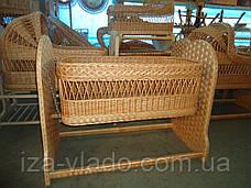 Детские кроватки плетенные из лозы. Люльки., фото 2