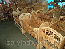 Детские кроватки плетенные из лозы. Люльки., фото 3